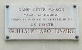 plaque commemorative guillaume apollinaire